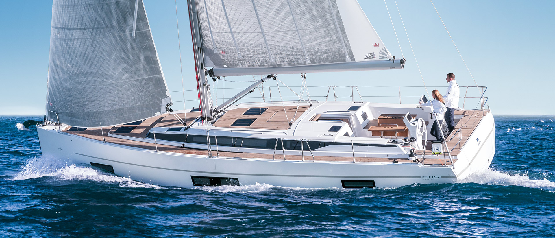 Yachtcharter Bavariac45 top