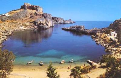 Bootscharter Dodekanes: Strand auf Rhodos
