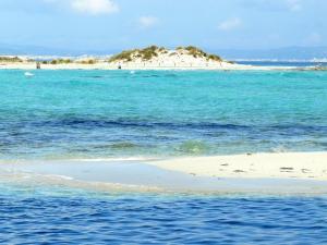 Yachtcharter Ibiza: Die Insel Espalmador mutet karibisch an