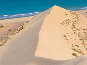Yachtcharter Kanaren: Sanddünen auf der Vulkaninsel Fuerteventura