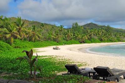 Charter Seychellen: Strand, und dahinter gleich der Dschungel